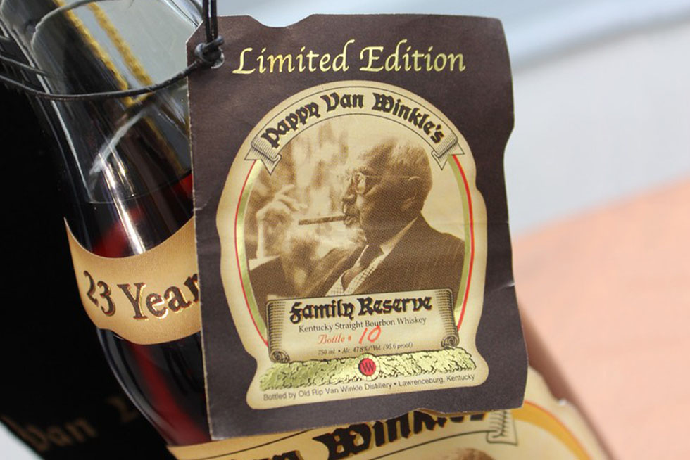 A $20,000 Pappy Van Winkle's Family – 23 Years Old Whiskey No. 10