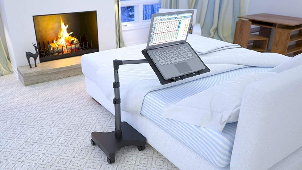 Move Your Laptop or Tablet! Levo Rolling Workstation
