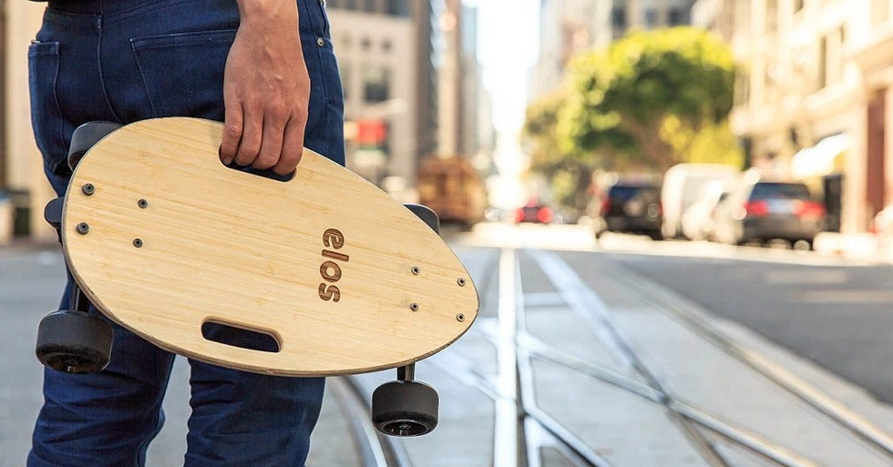 The Elos Packable Commuter Skateboard! Easy Solution