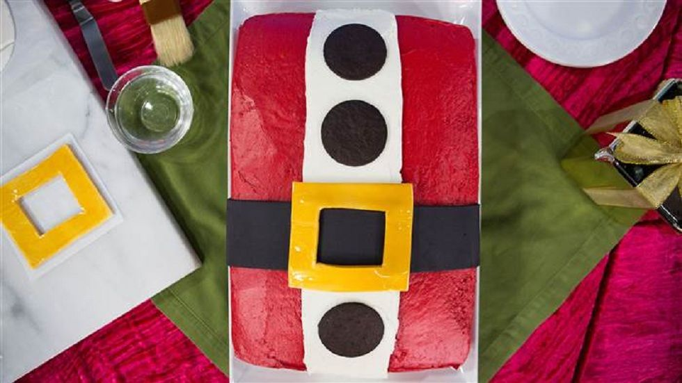 Santa Cake with Cream Cheese Frosting