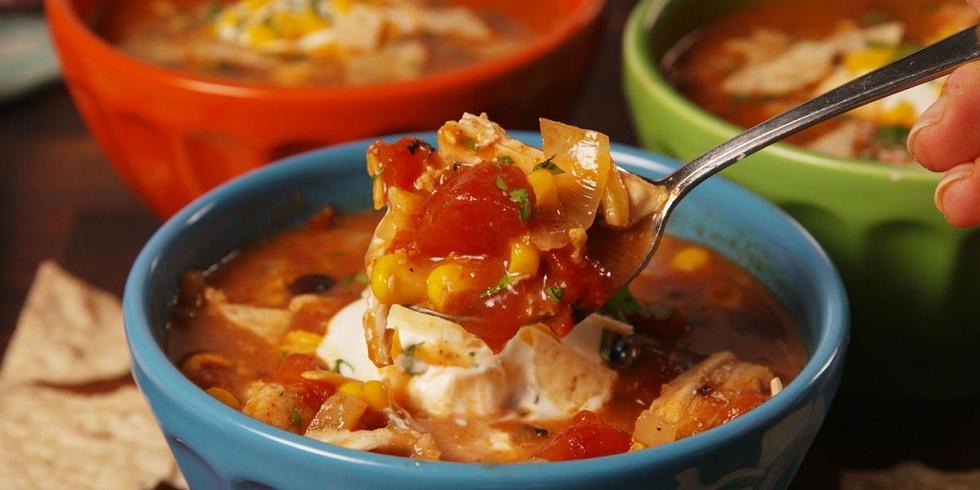 Crock Pot Chicken Enchilada Soup! Winter Soup