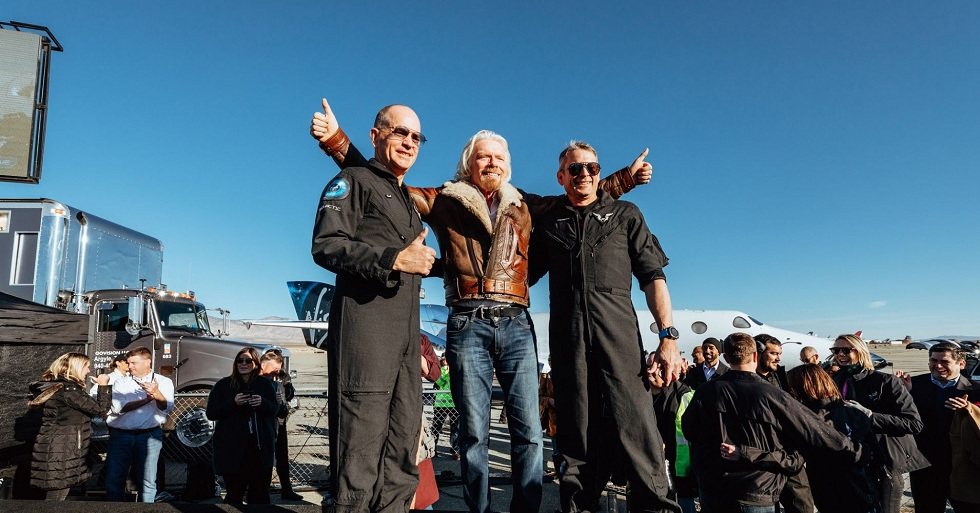 The First Passenger reaches the Edge of space with Virgin Galactic