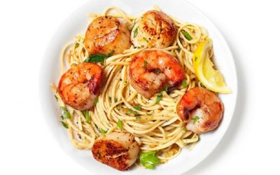 Lemon garlic scallop pasta! Be a Cook