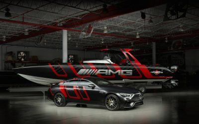 The 41′ AMG Carbon Edition boat! The Fastest on Sea