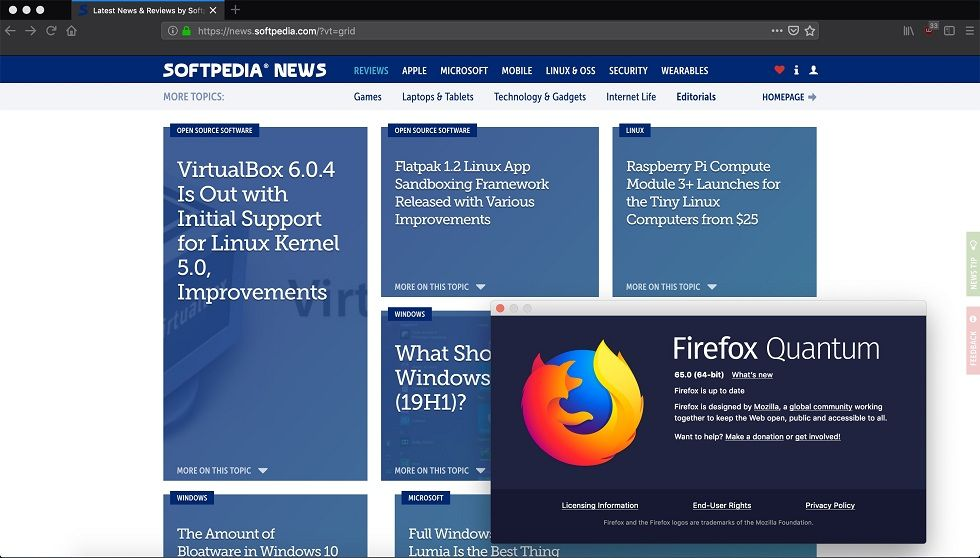 Firefox 65 adds privacy options! The control over trackers