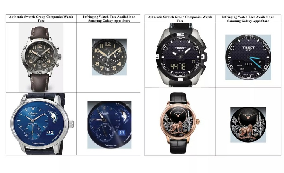 Swatch Sues Samsung of copying its Watchfaces