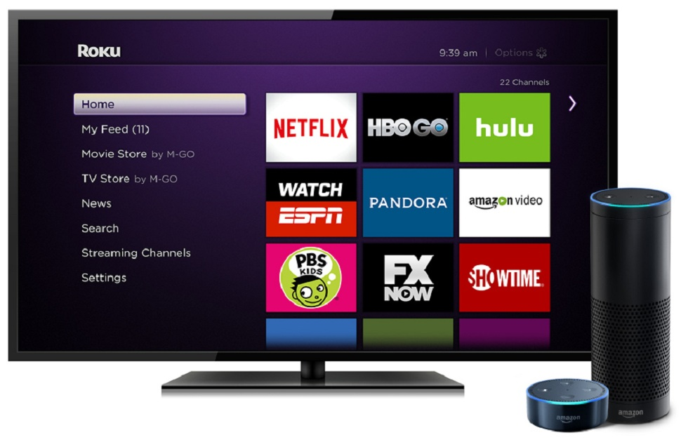 Roku devices with Alexa! The control option