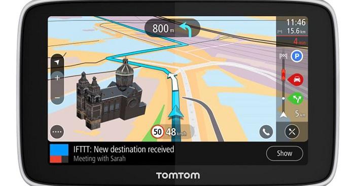 TomTom's new SatNav GPS Device! Uses IFTTT   MENTITUDE