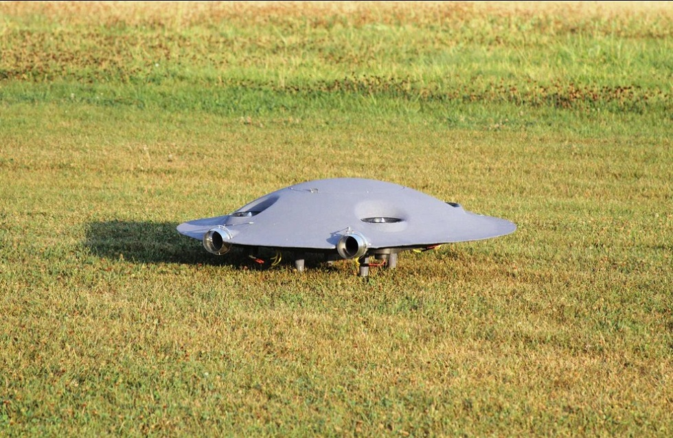 ADIFO is half flying saucer and half quad-copter