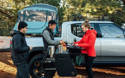 Rivian designed Kitchen in its Electric Truck! Make a Trip