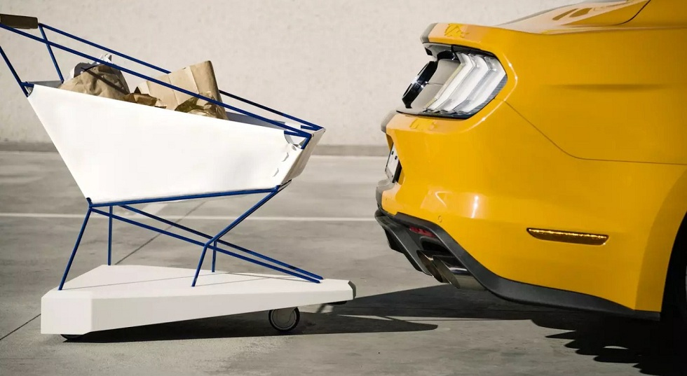 Ford's Self-Braking Trolley Cart! No Collision