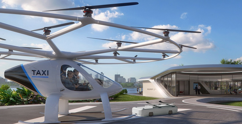 Volocopter Building a Prototype Flying Taxi Station! Innovation