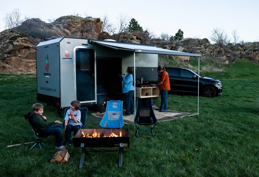 Dunraven's aluminum Camping Trailer! Get Ready