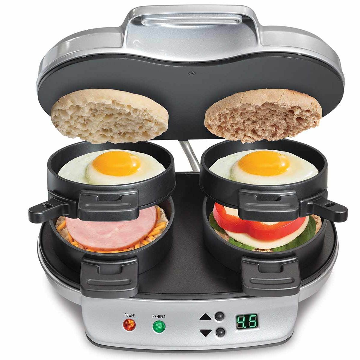 Hamilton Beach Dual Sandwich Maker: Men Can Cook!