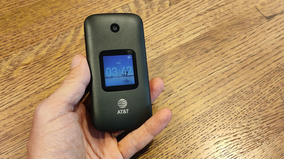 The Alcatel Go Flip 3 with Google Assistant