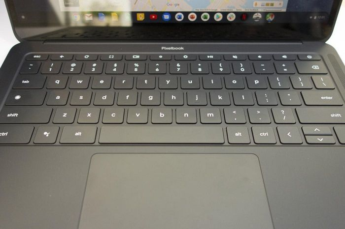 Google Pixelbook Go keyboard