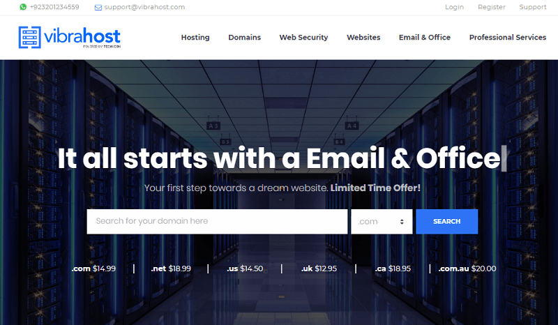 vibrahost - best web hosting providers in Pakistan