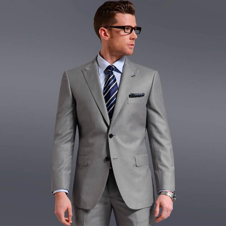 Plain Grey Two-Button Suits