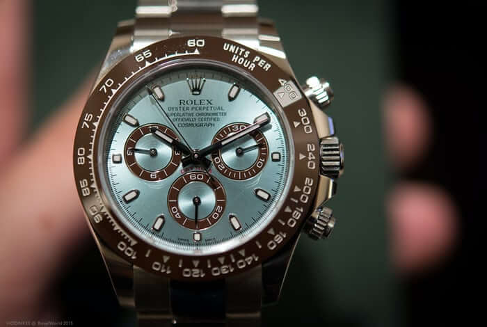 Rolex Cosmograph Daytona Ice Blue Dial Platinum Watch