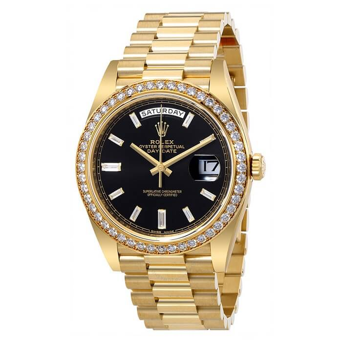 Rolex Oyster Perpetual Mens 18 Carat Yellow Gold President Watch