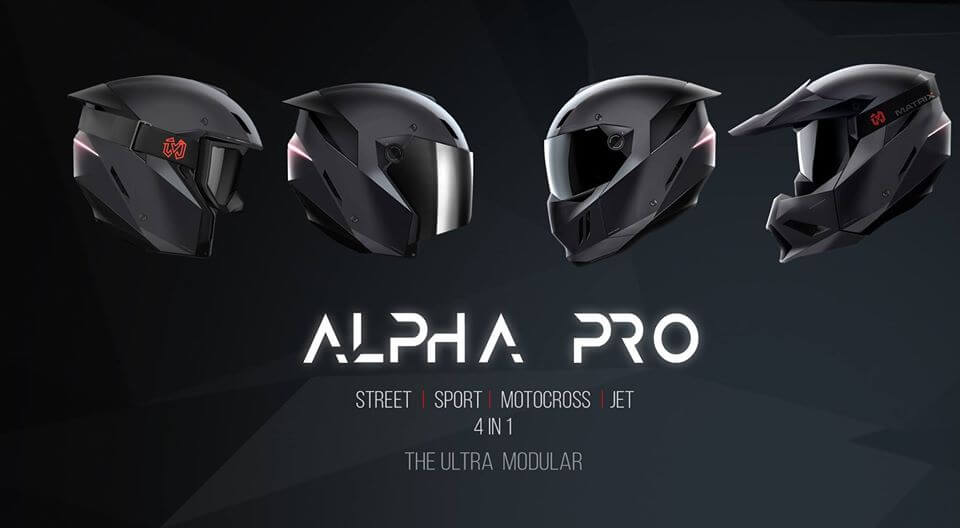 The Matrix Alpha Pro Is a New Modular Helmet