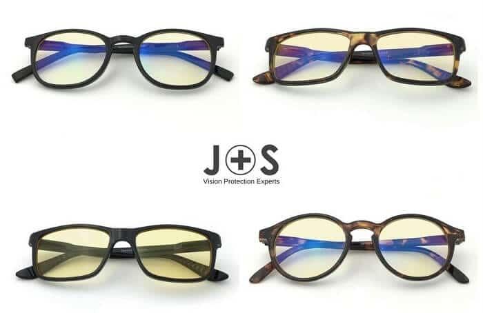 J+S Vision Glasses - Best Blue Light Filtering Glasses